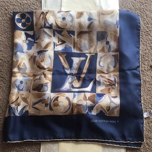Louis Vuitton Authentic Silk Scarf VTG